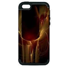 Fractal Image Apple iPhone 5 Hardshell Case (PC+Silicone)