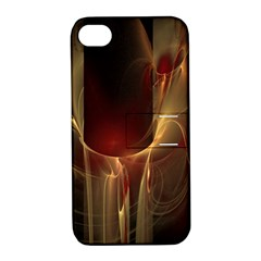 Fractal Image Apple iPhone 4/4S Hardshell Case with Stand