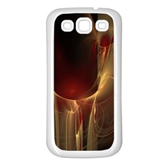 Fractal Image Samsung Galaxy S3 Back Case (White)