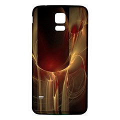 Fractal Image Samsung Galaxy S5 Back Case (White)