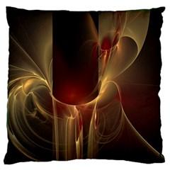 Fractal Image Large Flano Cushion Case (One Side)