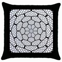 Grillage Throw Pillow Case (Black)