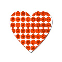Icon Library Web Icons Internet Social Networks Heart Magnet