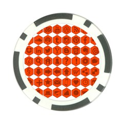 Icon Library Web Icons Internet Social Networks Poker Chip Card Guard (10 pack)