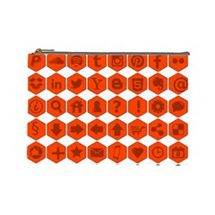 Icon Library Web Icons Internet Social Networks Cosmetic Bag (large)