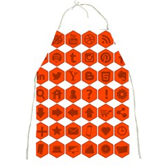 Icon Library Web Icons Internet Social Networks Full Print Aprons