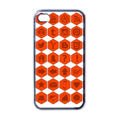 Icon Library Web Icons Internet Social Networks Apple Iphone 4 Case (black)