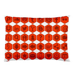Icon Library Web Icons Internet Social Networks Pillow Case (Two Sides)