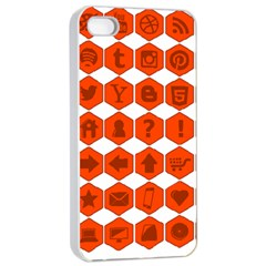 Icon Library Web Icons Internet Social Networks Apple iPhone 4/4s Seamless Case (White)