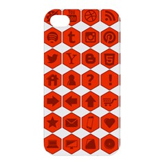 Icon Library Web Icons Internet Social Networks Apple iPhone 4/4S Premium Hardshell Case