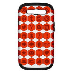 Icon Library Web Icons Internet Social Networks Samsung Galaxy S Iii Hardshell Case (pc+silicone)