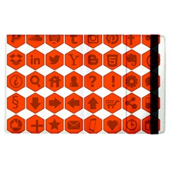 Icon Library Web Icons Internet Social Networks Apple iPad 3/4 Flip Case