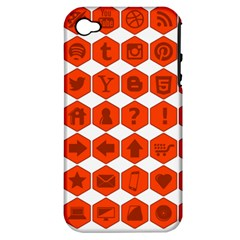 Icon Library Web Icons Internet Social Networks Apple iPhone 4/4S Hardshell Case (PC+Silicone)
