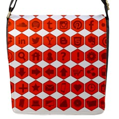 Icon Library Web Icons Internet Social Networks Flap Messenger Bag (S)