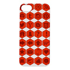 Icon Library Web Icons Internet Social Networks Apple iPhone 5S/ SE Hardshell Case