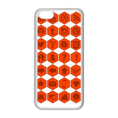 Icon Library Web Icons Internet Social Networks Apple iPhone 5C Seamless Case (White)