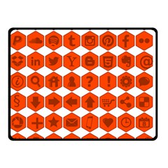 Icon Library Web Icons Internet Social Networks Double Sided Fleece Blanket (Small)