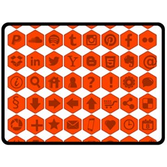 Icon Library Web Icons Internet Social Networks Double Sided Fleece Blanket (Large)