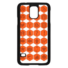 Icon Library Web Icons Internet Social Networks Samsung Galaxy S5 Case (Black)