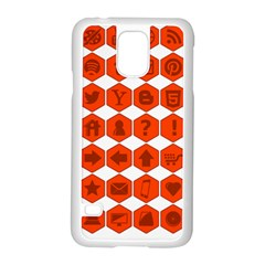Icon Library Web Icons Internet Social Networks Samsung Galaxy S5 Case (White)