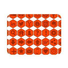 Icon Library Web Icons Internet Social Networks Double Sided Flano Blanket (Mini)