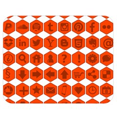 Icon Library Web Icons Internet Social Networks Double Sided Flano Blanket (Medium)