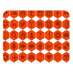 Icon Library Web Icons Internet Social Networks Double Sided Flano Blanket (Large)