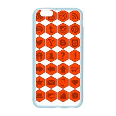 Icon Library Web Icons Internet Social Networks Apple Seamless iPhone 6/6S Case (Color)