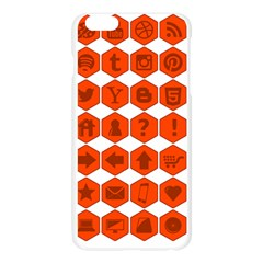 Icon Library Web Icons Internet Social Networks Apple Seamless iPhone 6 Plus/6S Plus Case (Transparent)