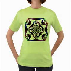 Ring Segments Women s Green T Shirt