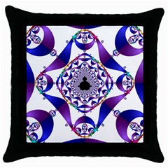 Ring Segments Throw Pillow Case (Black)