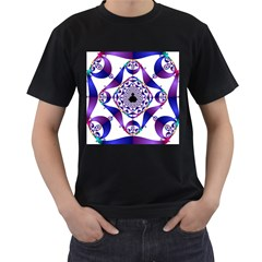 Ring Segments Men s T Shirt (black) (two Sided)