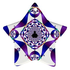 Ring Segments Star Ornament (two Sides)