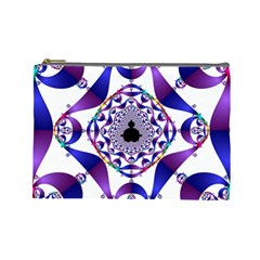 Ring Segments Cosmetic Bag (large)