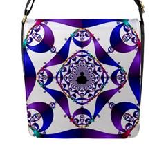 Ring Segments Flap Messenger Bag (L)