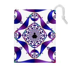 Ring Segments Drawstring Pouches (extra Large)