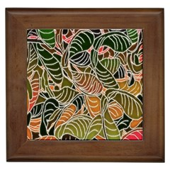 Floral Pattern Background Framed Tiles