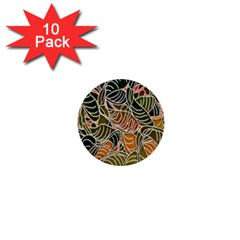 Floral Pattern Background 1  Mini Buttons (10 Pack)