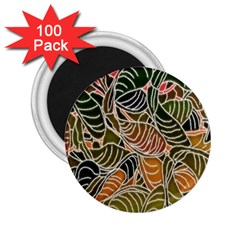Floral Pattern Background 2.25  Magnets (100 pack)