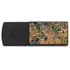 Floral Pattern Background USB Flash Drive Rectangular (2 GB)