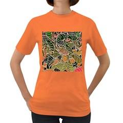 Floral Pattern Background Women s Dark T-Shirt