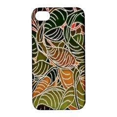 Floral Pattern Background Apple iPhone 4/4S Hardshell Case with Stand