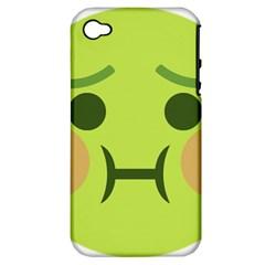 Barf Emoji Apple iPhone 4/4S Hardshell Case (PC+Silicone)