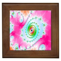 Decorative Fractal Spiral Framed Tiles
