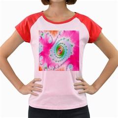 Decorative Fractal Spiral Women s Cap Sleeve T-Shirt