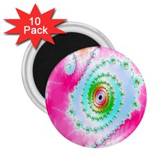 Decorative Fractal Spiral 2 25  Magnets (10 Pack)