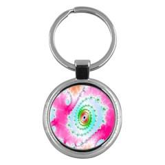 Decorative Fractal Spiral Key Chains (round)