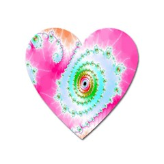Decorative Fractal Spiral Heart Magnet
