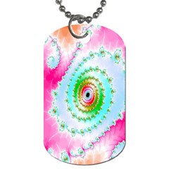 Decorative Fractal Spiral Dog Tag (Two Sides)