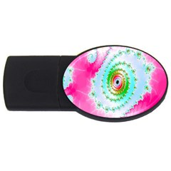 Decorative Fractal Spiral USB Flash Drive Oval (2 GB)